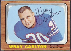 autographed 1966 topps wray carlton
