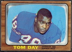 autographed 1966 topps tom day