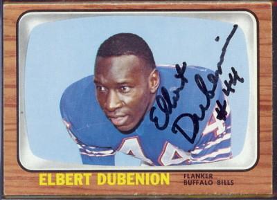 autographed 1966 topps elbert dubenion