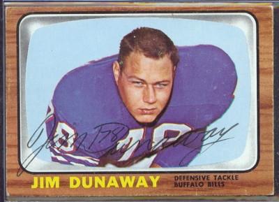 autographed 1966 topps jim dunaway