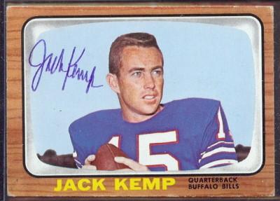 autographed 1966 topps jack kemp