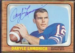autographed 1966 topps daryle lamonica