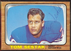 autographed 1966 topps tom sestak