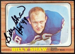 autographed 1966 topps billy shaw