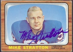 autographed 1966 topps mike stratton