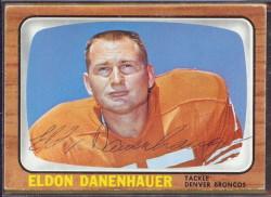 autographed 1966 topps eldon danenhauer