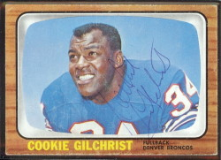 autographed 1966 topps cookie gilchrist