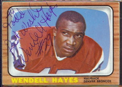 autographed 1966 topps wendell hayes