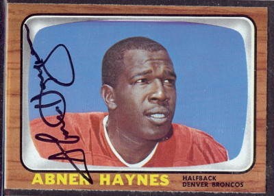 autographed 1966 topps abner haynes
