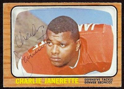 autographed 1966 topps charlie janerette