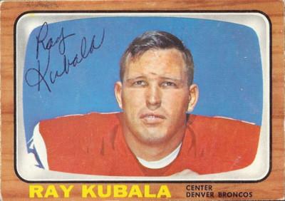 autographed 1966 topps ray kubala