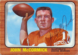 autographed 1966 topps john mccormick