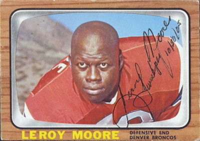 autographed 1966 topps leroy moore