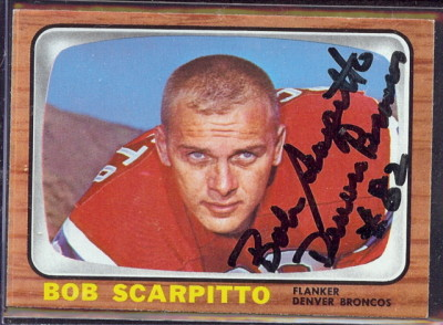 autographed 1966 topps bob scarpitto