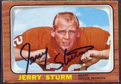 autographed 1966 topps jerry sturm