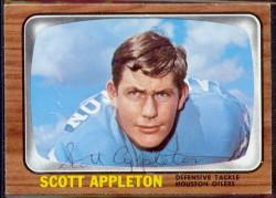 autographed 1966 topps scott appleton