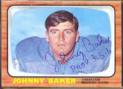 autographed 1966 topps johnny baker