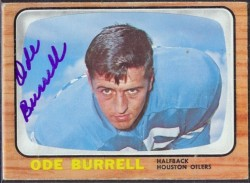 autographed 1966 topps ode burrell