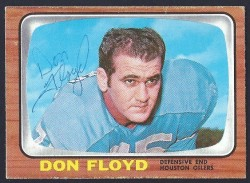 autographed 1966 topps don floyd