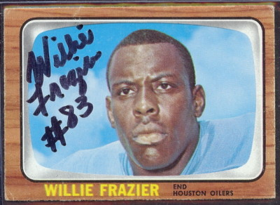 autographed 1966 topps willie frazier