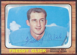 autographed 1966 topps freddy glick