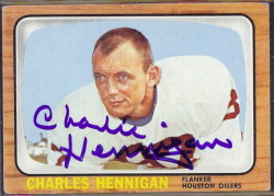 autographed 1966 topps charlie hennigan