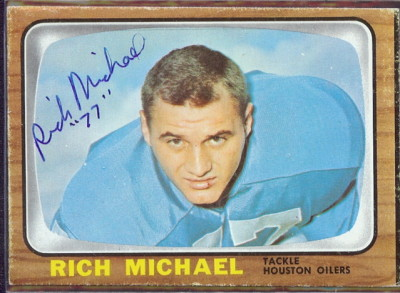 autographed 1966 topps rich michael