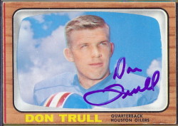 autographed 1966 topps don trull