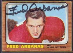 autographed 1966 topps fred arbanas
