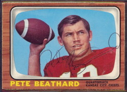autographed 1966 topps pete beathard