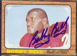 autographed 1966 topps bobby bell