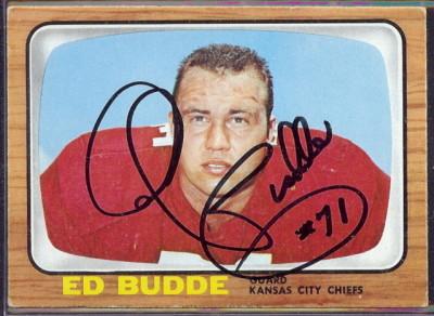 autographed 1966 topps ed budde