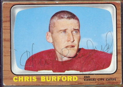 autographed 1966 topps chris burford