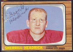 autographed 1966 topps sherrill headrick