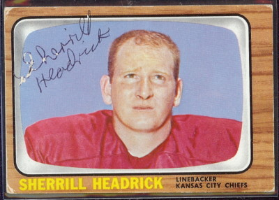 autographed 1966 topps sherrill headrick