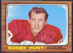 autographed 1966 topps bobby hunt