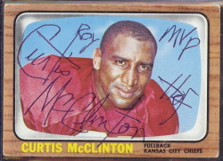 autographed 1966 topps curtis mcclinton