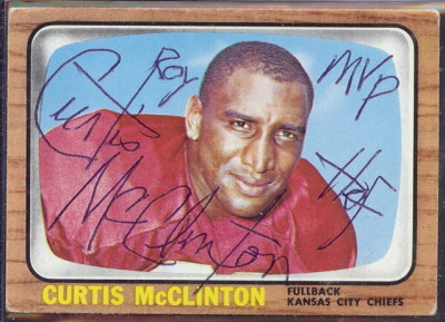 autographed 1966 topps curtis mcclinton