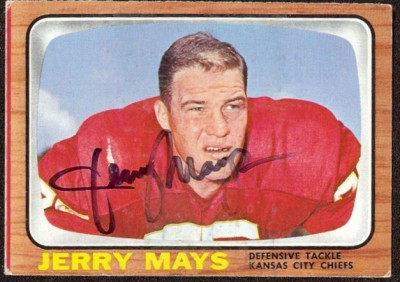 autographed 1966 topps jerry mays
