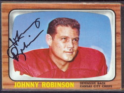 autographed 1966 topps johnny robinson