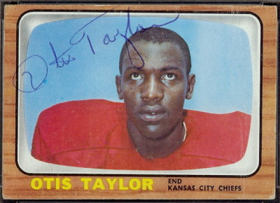 autographed 1966 topps otis taylor