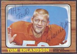 autographed 1966 topps tom erlandson
