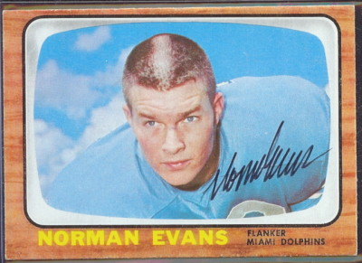 autographed 1966 topps norm evans