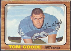 autographed 1966 topps tom goode
