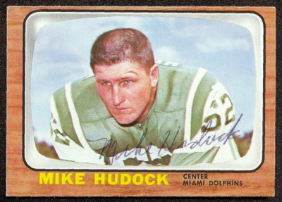 autographed 1966 topps mike hudock