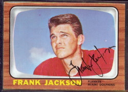 autographed 1966 topps frank jackson