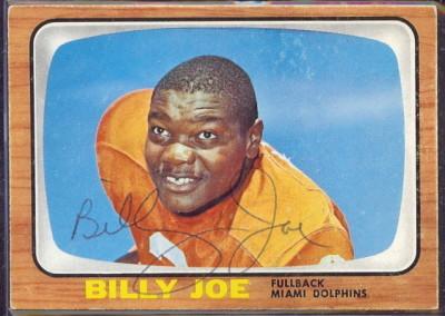 autographed 1966 topps billy joe