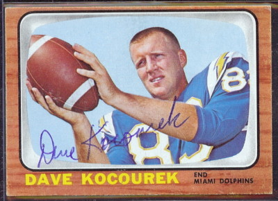 autographed 1966 topps dave kocourek