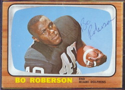autographed 1966 topps bo roberson