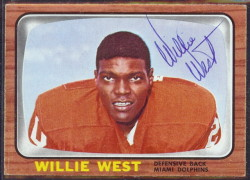 autographed 1966 topps willie west